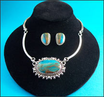 Silver and Turquoise